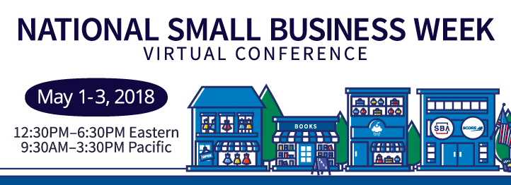 may 1-3, 2018 Free Virtual small business event
