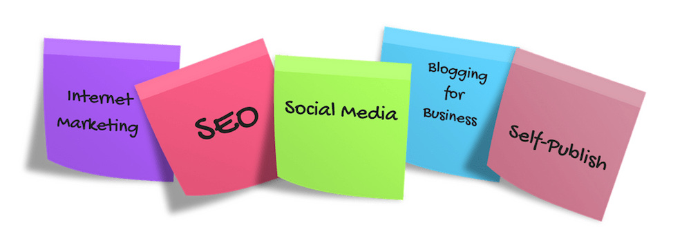 Services: SEO, Social Media, blogging, Self publish