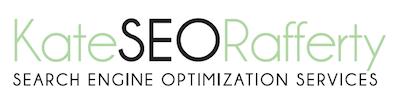 kate rafferty seo search engine optimization logo